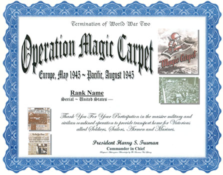 Operation Magic Carpet Display Recognition