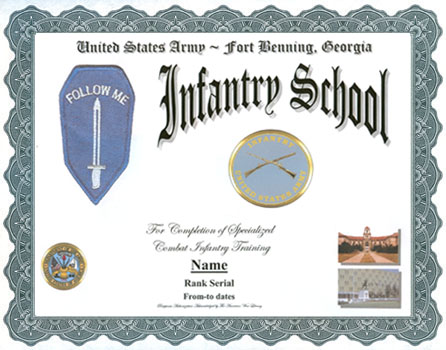 Us Army Infantry School Service Display Recognition