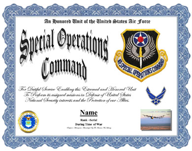 Special Operations Command, Air Force Display Recognition