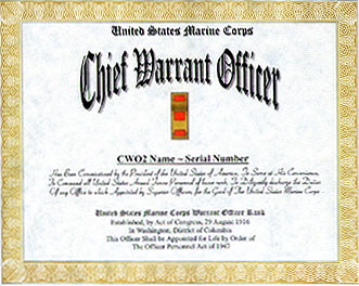 officer promotion certificate template - marine corps warrant officer promotion display recognition