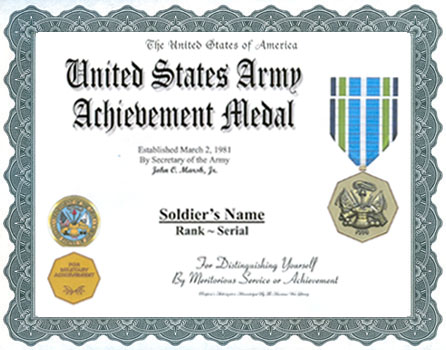 Achievement medal display recognition army achievement medal click for larger image yelopaper Images