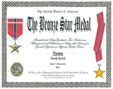 List of Bronze Star Recipients