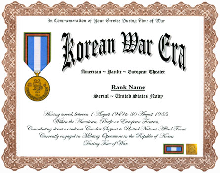 Kore Military Medal Display Recognitions Certificates