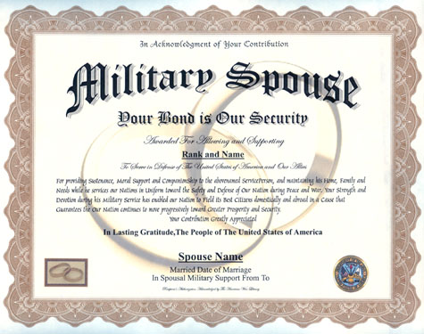 Military Spouse Display Recognition