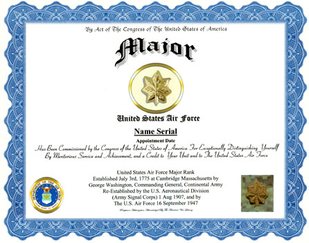 Air force promotion certificate pictures to pin on for Promotion certificate template