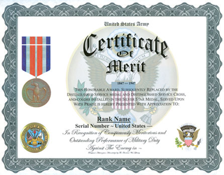 Certificate of merit display recognition yadclub