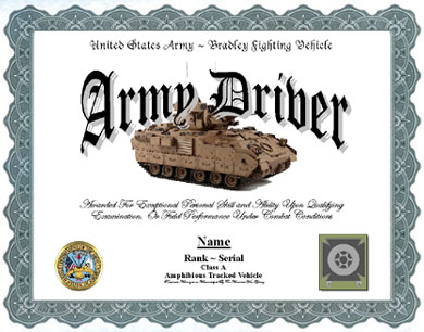 army certificate of completion template - army drivers badge template pictures to pin on pinterest