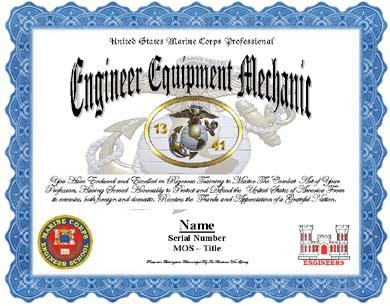 Us Marine Corps 1341 Engineer Equipment Mechanic