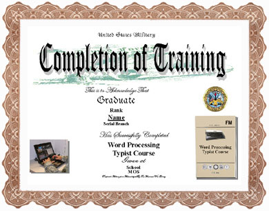 Military medal display recognitionscertificates word processor typist training completion image application form yadclub